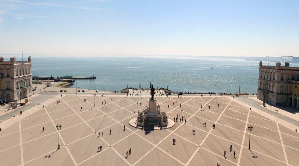 trg u Lisabonu, destinacija, putovanje, odmor
