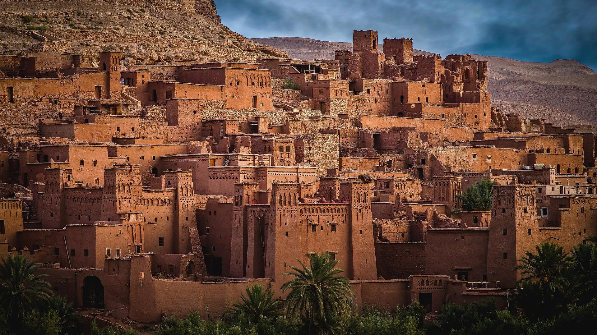 Maroko, selo, zemljane zgrade, afrika, destinacija
