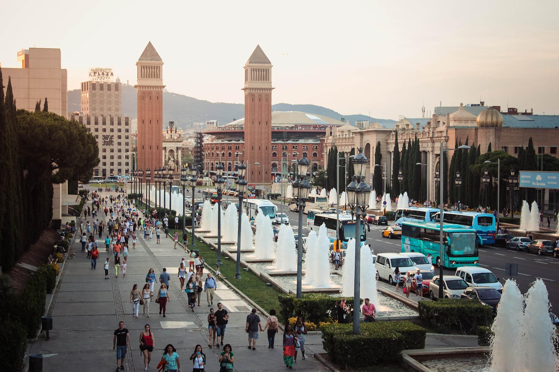 barselona, španija, turisti, gužve