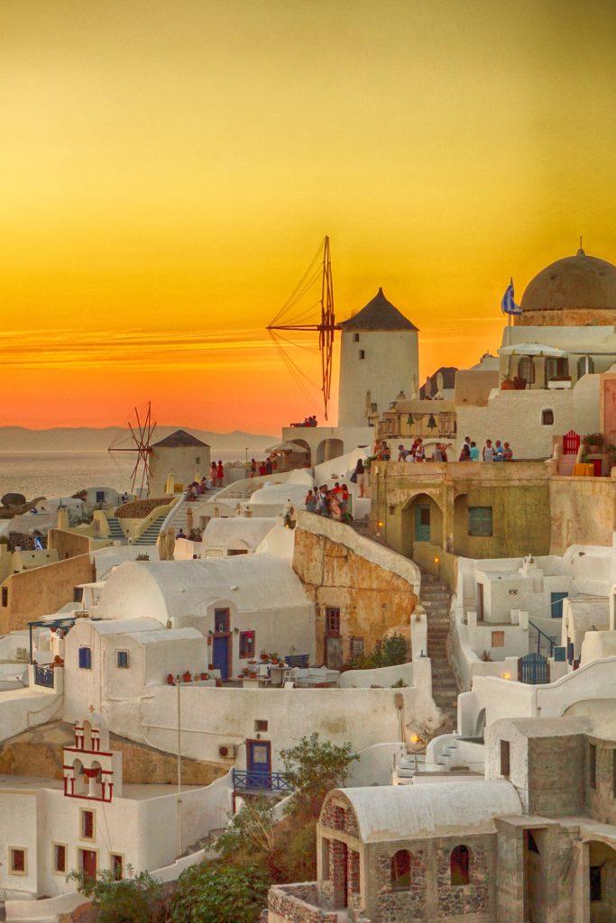 santorini, grčka, turista, turizam, gužva