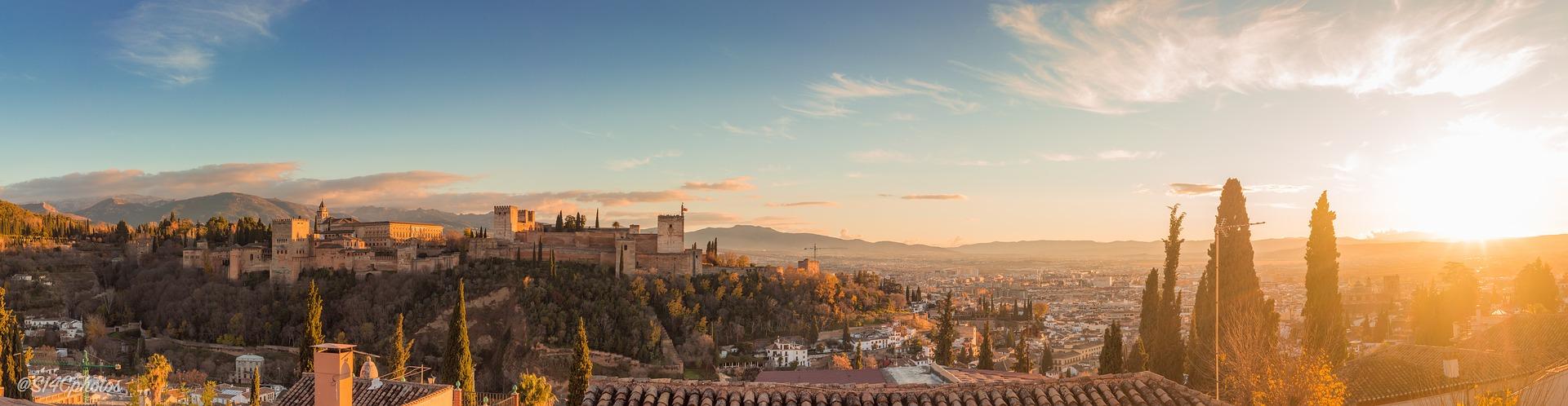 granada, andaluzija, španija, grad, destinacija,