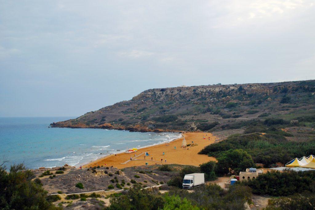 ramla bay, malta, plaža