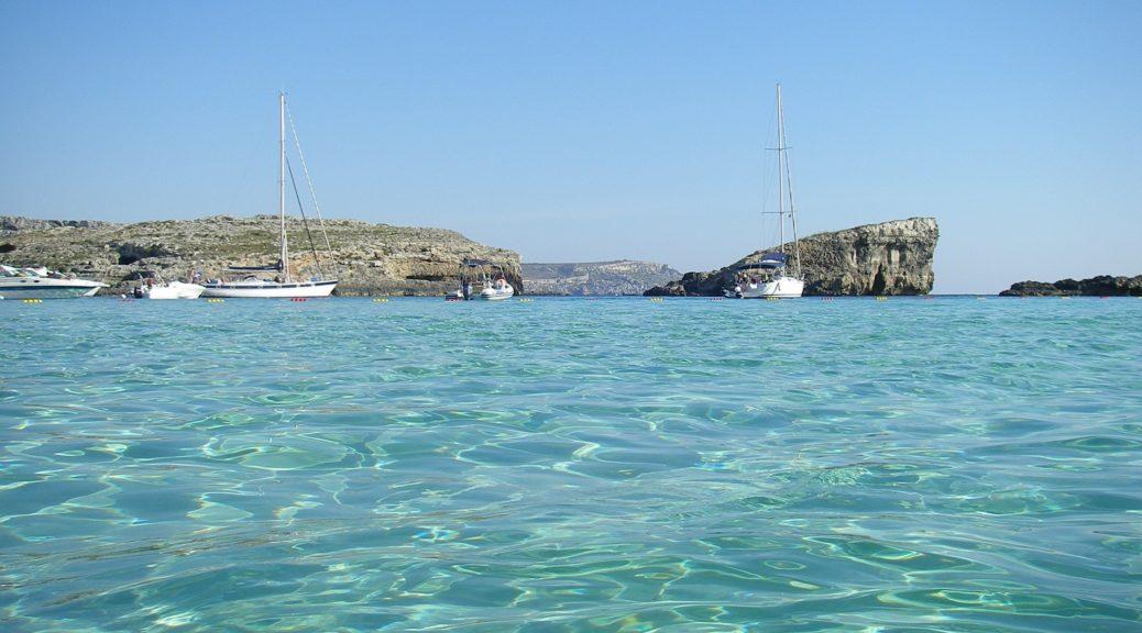 malta, plaža, more, kupanje,
